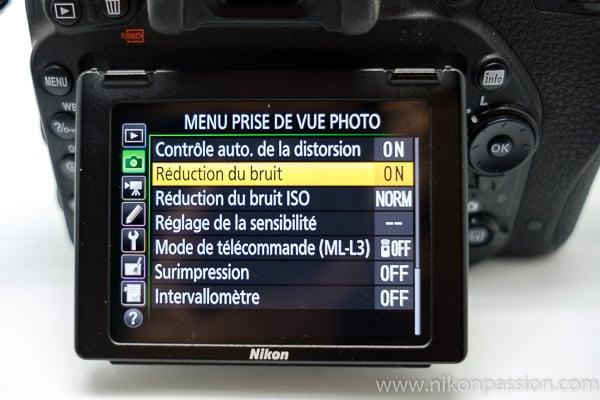 Différence entre la réduction du bruit et la réduction du bruit ISO sur un reflex Nikon