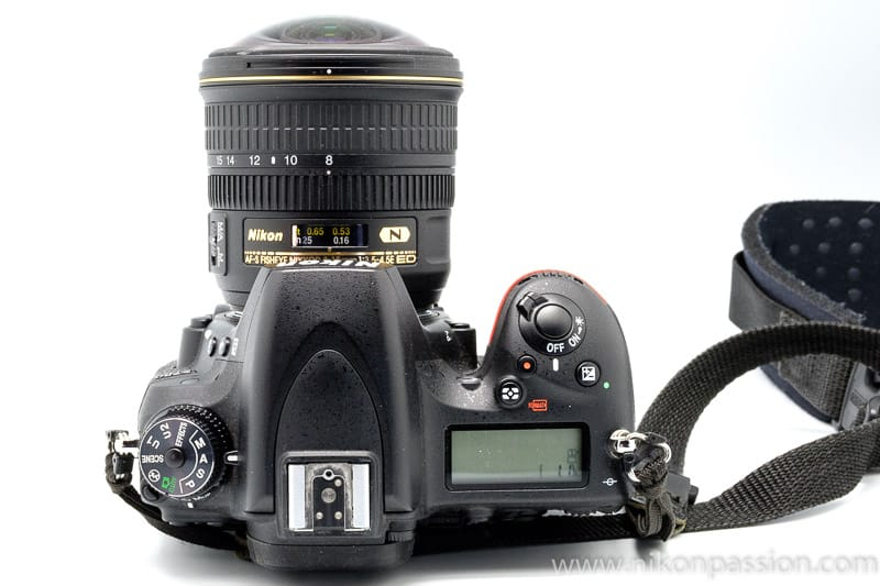 TestNikon 8-15mm Fisheye : boîtier horizontal, pas de déformation des horizontales