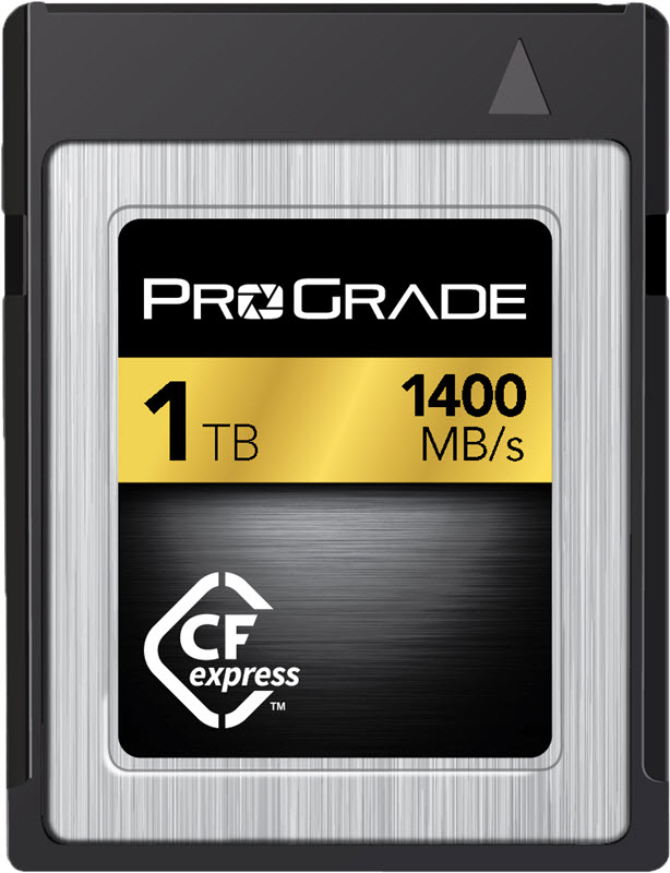 ProGrade Digital annonce les cartes CFexpress de 1To, remplacement des cartes XQD possible