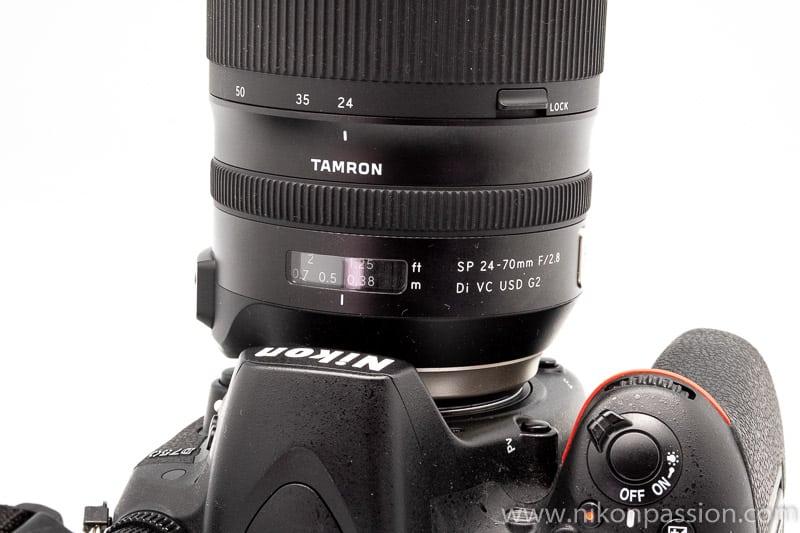 Test Tamron 24-70 f/2.8 G2 : les boutons Autofocus et Stabilisation
