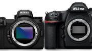 comparaison de taille entre les Nikon Z6 et Z7 et le reflex Nikon D850