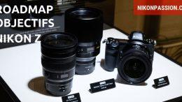 Roadmap objectifs Nikon Z pour hybrides Nikon plein format