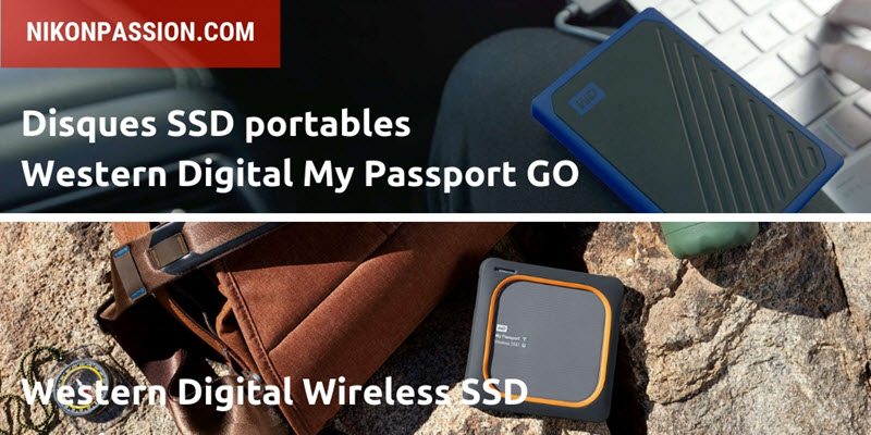 Western Digital My Passport Go et My Passport Wireless SSD