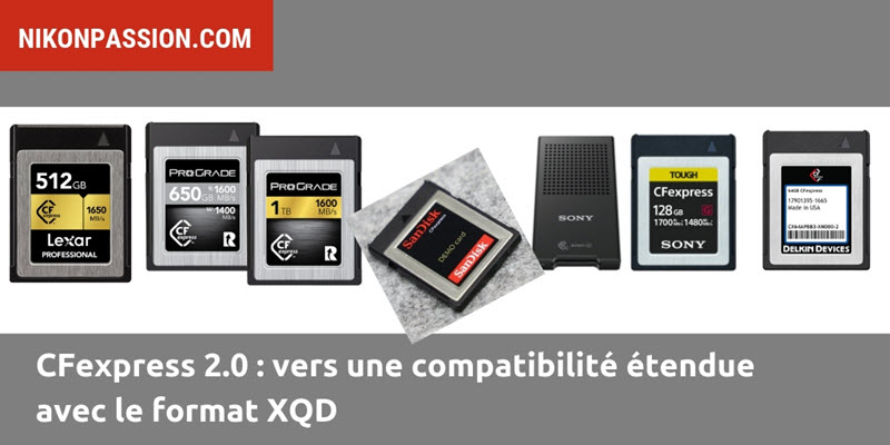 5 fabricants de cartes CFexpress proposent des cartes
