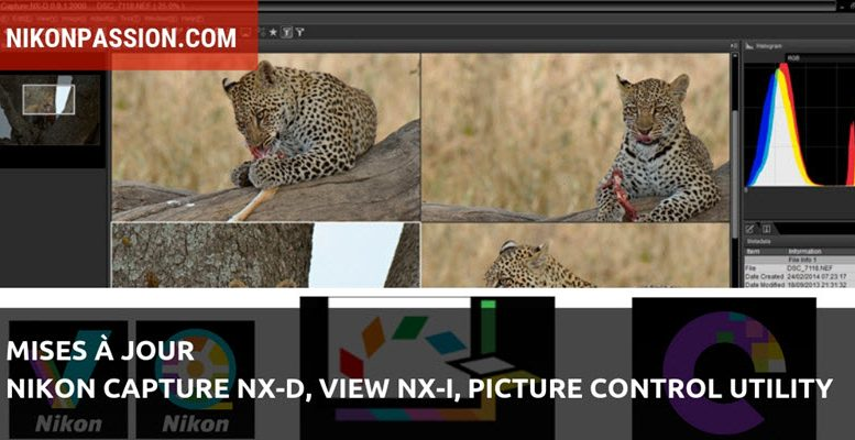Nikon Capture NX-D, View NX-i et Picture Control Utility, mises à jour des logiciels Nikon