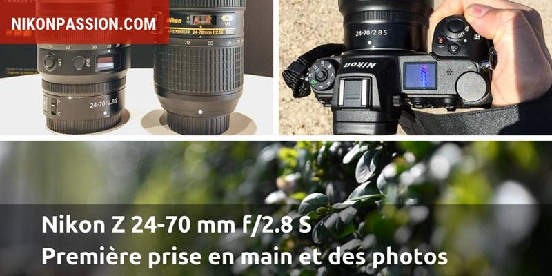 Nikon Z 24-70 mm f/2.8 S : prise en main