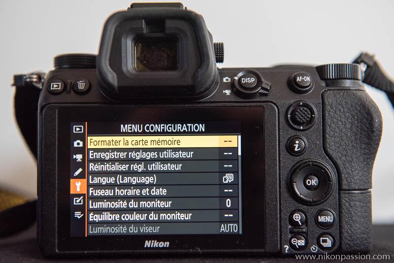 Comment régler un hybride Nikon : menu configuration