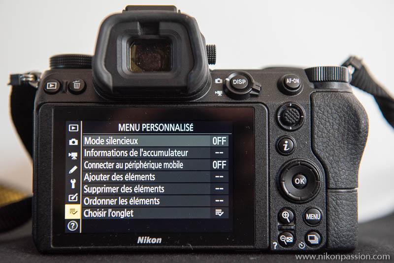 Comment régler un hybride Nikon : menu personnalisé