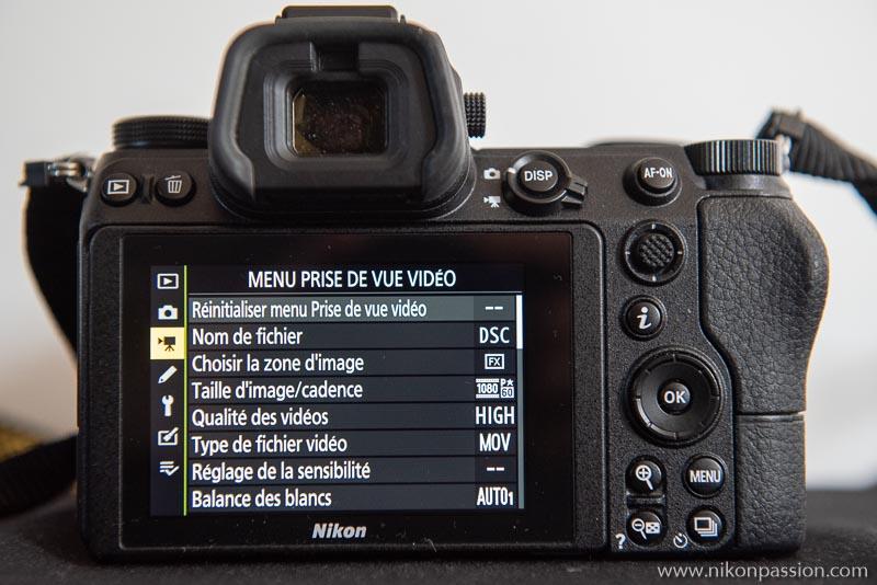 Comment régler un hybride Nikon : menu prise de vue Vidéo