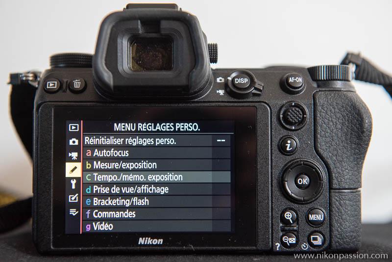 Comment régler un hybride Nikon : menu Réglages persos