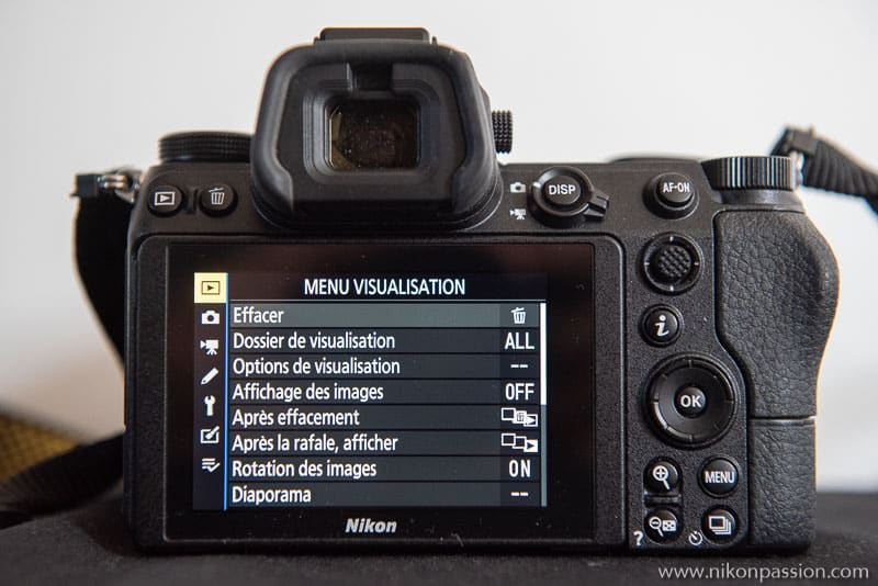 Comment régler un hybride Nikon : menu Visualisation