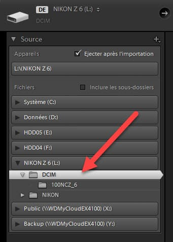 Mises à jour Lightroom Classic 8.3 et Lightroom 2.3 import DCIM