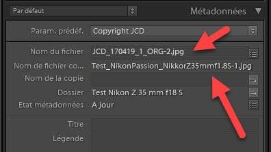Mises à jour Lightroom Classic 8.3 et Lightroom 2.3 conservation du nom de fichier