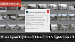 Mises à jour Lightroom Classic 8.3 et Lightroom 2.3