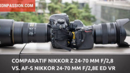 Comparatif Nikkor Z 24-70 mm f/2,8 vs. AF-S Nikkor 24-70 mm F/2,8E ED VR