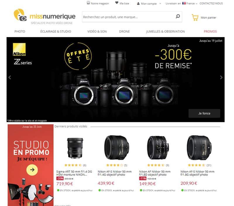 Achat matériel photo site de vente en ligne spécialisé