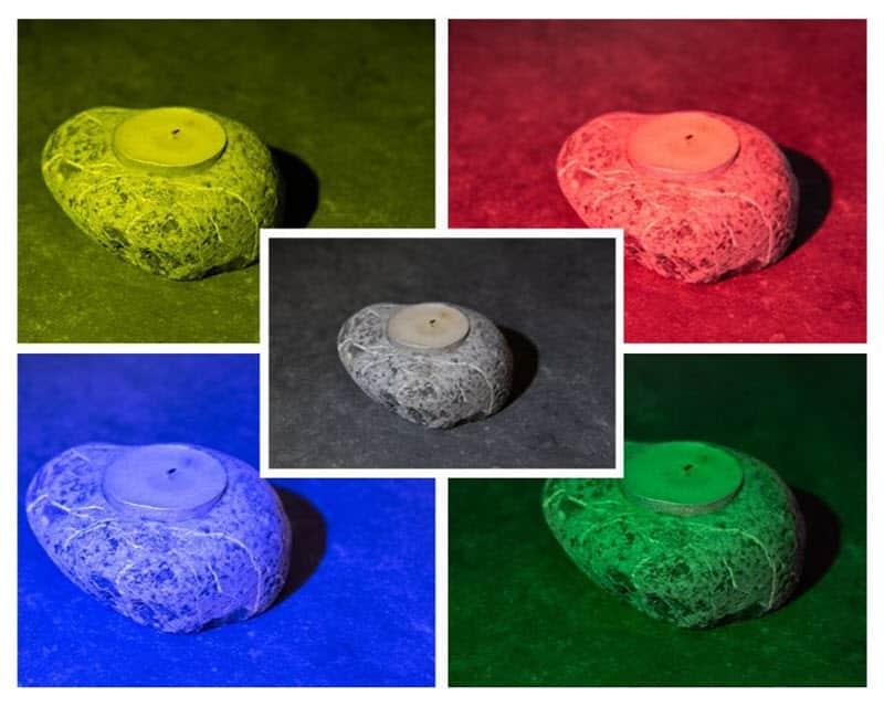 Test gélatines couleur Lumecube studio