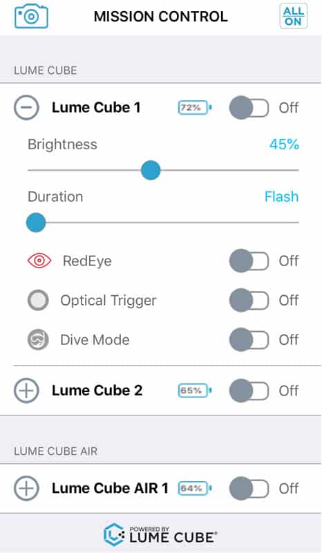 Application Lumecube pour smartphone iOS iPhone Android