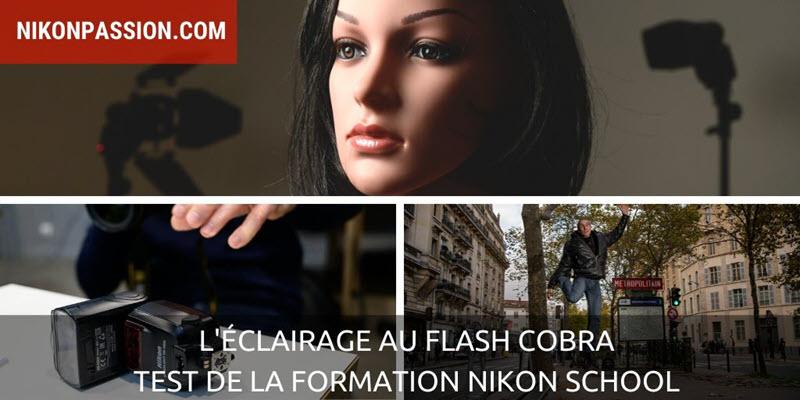 L'éclairage au flash cobra : de l'intention à la réalisation - mon avis sur la formation Nikon School