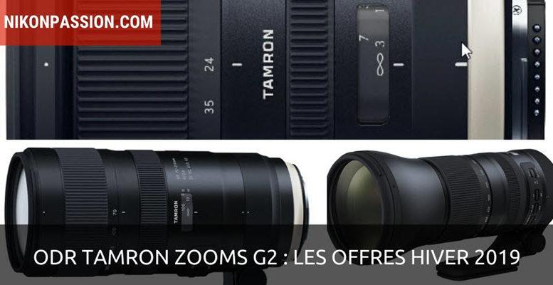 ODR Tamron : tous les objectifs zooms Tamron G2 à 999 euros