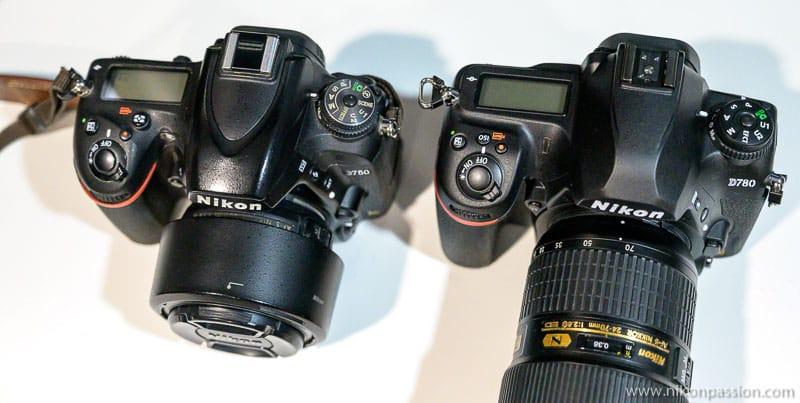 Comparaison Nikon D750 vs D780