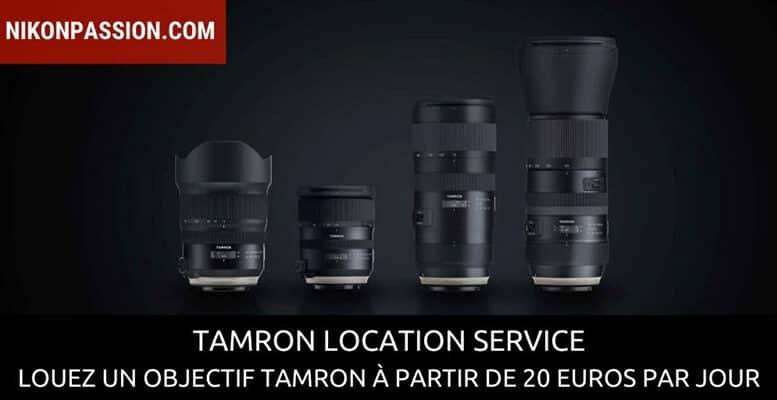Tamron location service : louez un objectif à la journée