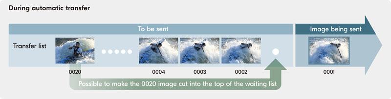 Nikon D6 transfert des photos et piles d'envoi