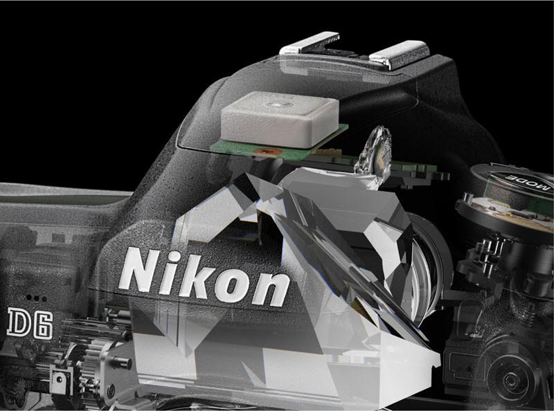 Nikon D6 : GPS intégré