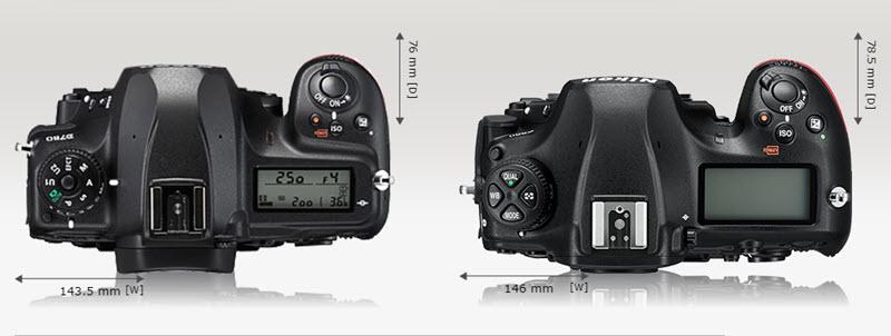 Comparaison Nikon D780 vs D850 dessus