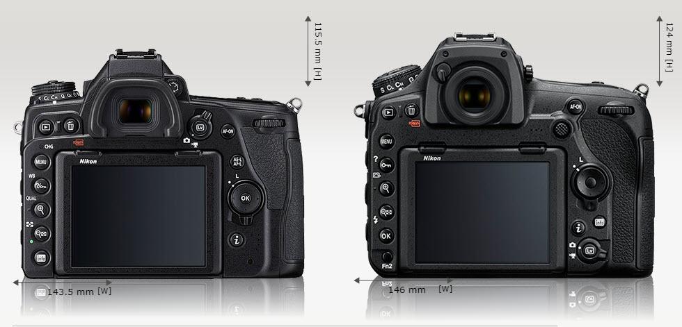 Comparaison Nikon D780 vs D850 dos
