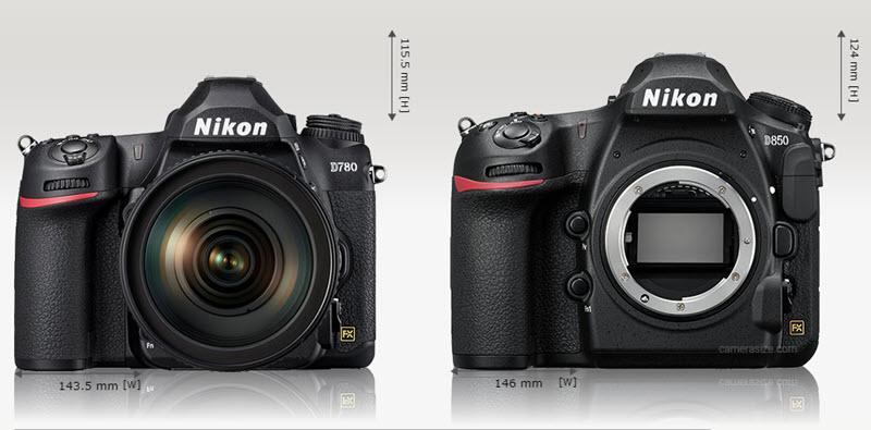 Comparaison Nikon D780 vs D850 face