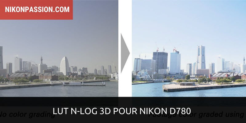 LUT N-Log 3D Nikon D780 : table de correspondance pour N-Log gamma