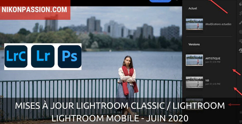 Mises à jour Lightroom Classic / Lightroom - juin 2020