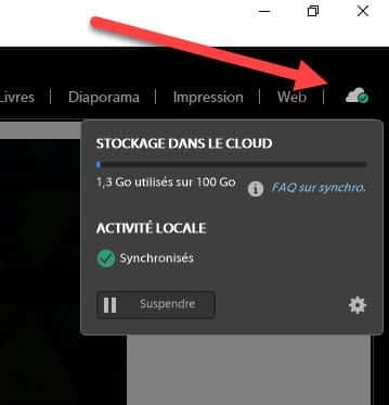 synchronisation Adobe Cloud