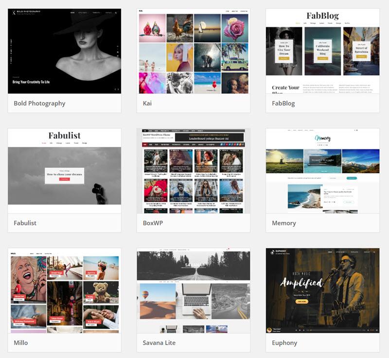 Exemple de modèles de blog WordPress pour les photographes