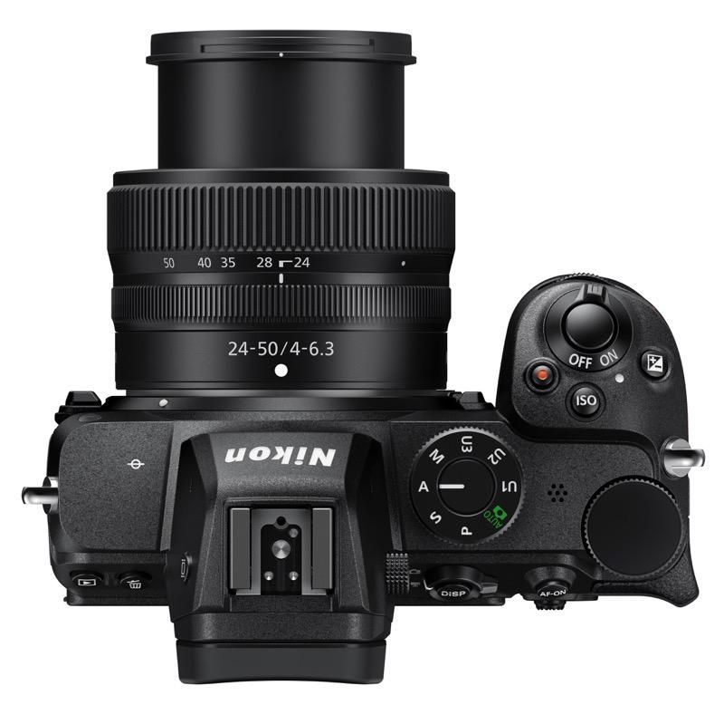 Nikon Z 5 : dessus
