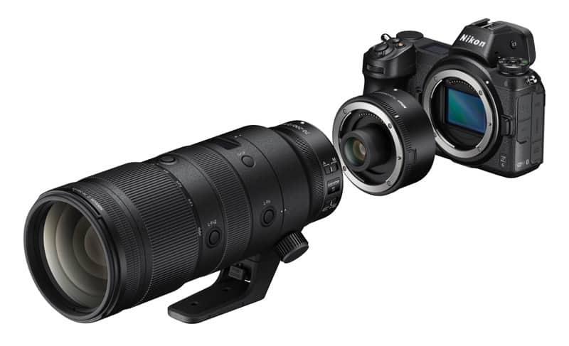 Le téléconvertisseur Nikon Z TC-2.0x avec le NIKKOR Z 70-20 mm f/2.8