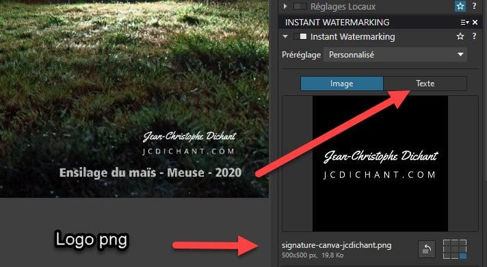 DxO PhotoLab 4 : ajouter un filigrane, une signature, un logo sur une photo