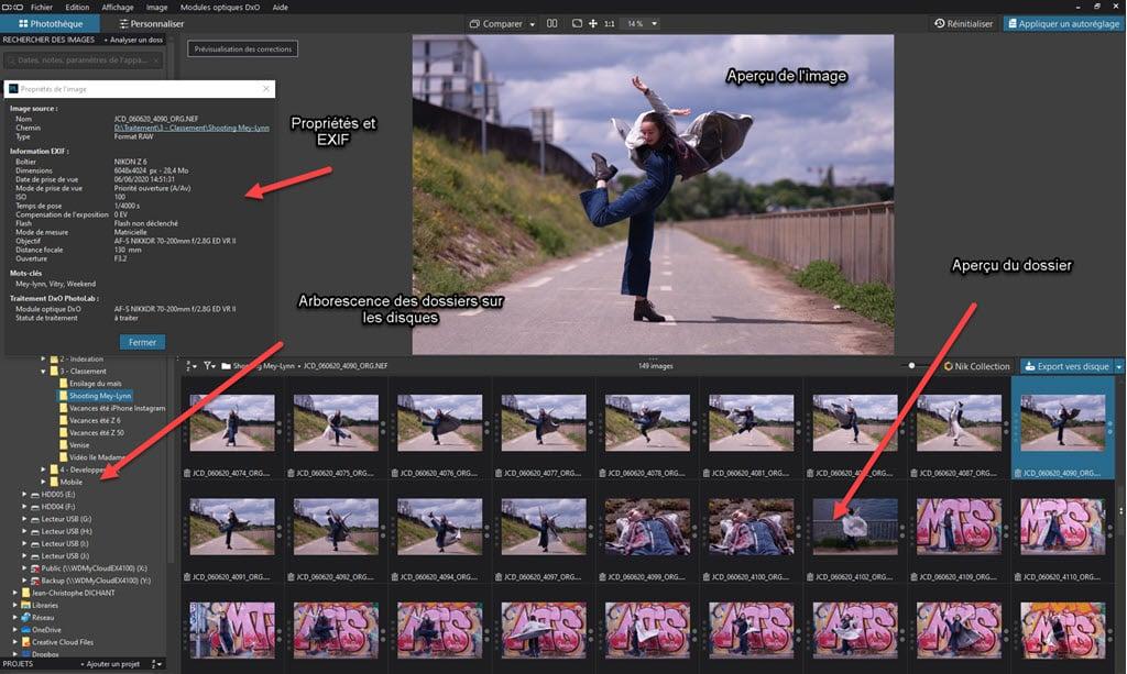 DxO PhotoLab 4 : gestion des photos dans la photothèque