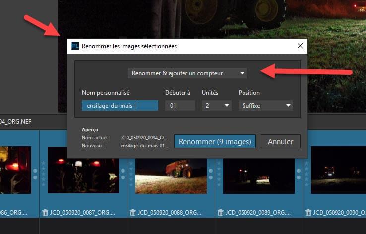DxO PhotoLab 4 : renommage par lots des photos