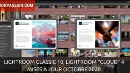 "Lightroom Classic 10, Lightroom ""Cloud"" 4, mises à jour octobre 2020"