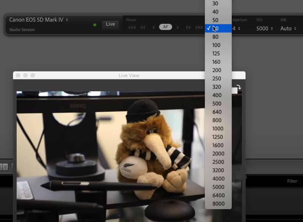 Lightroom 10, mode connecté et Live View