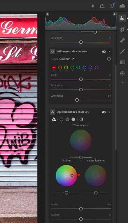 Lightroom Cloud 4 Color Grading