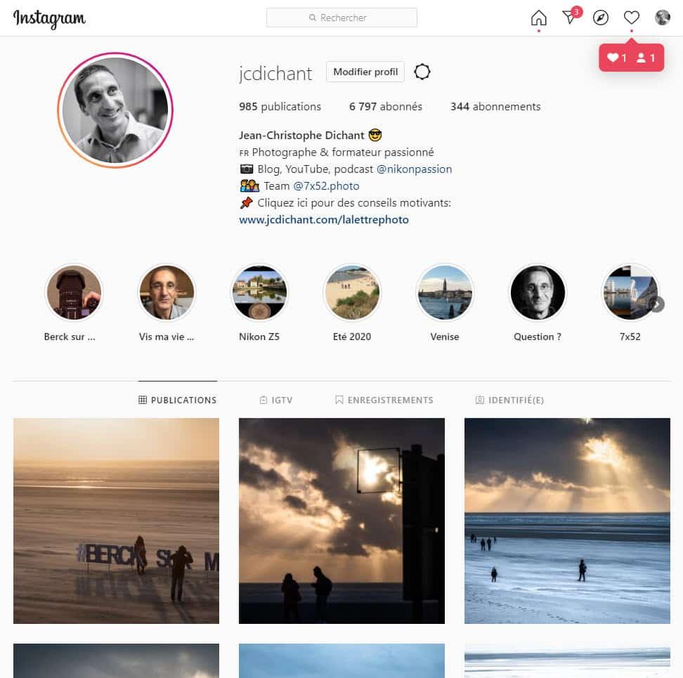Jean-Christophe Dichant sur Instagram