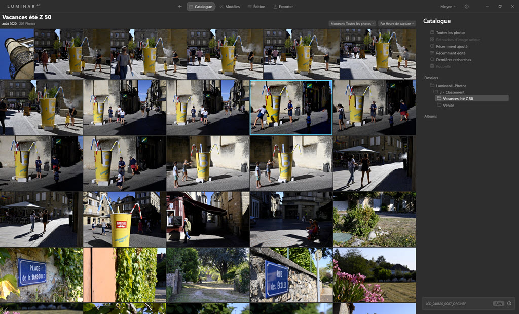 Luminar AI  : Module Catalogue