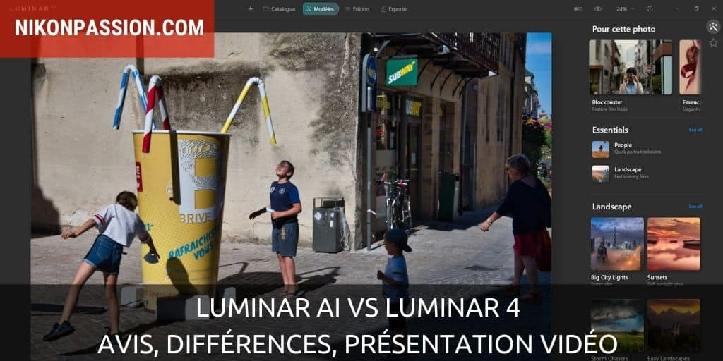 Luminar AI vs Luminar 4 : premier avis, différences, présentation vidéo
