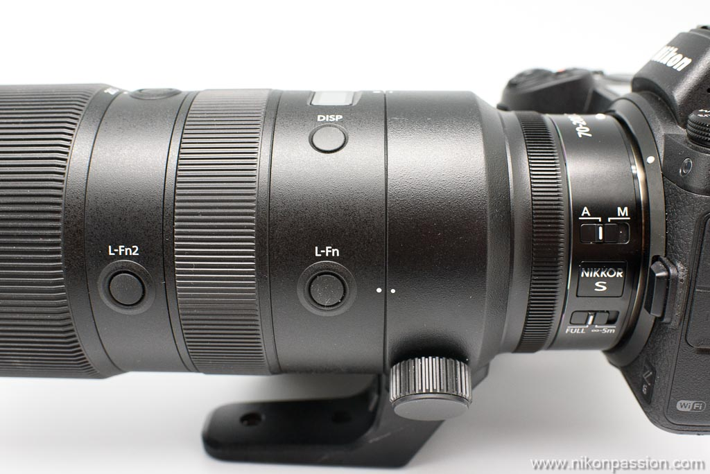 Commandes du NIKKOR Z 70-200 mm f/2.8 VR S