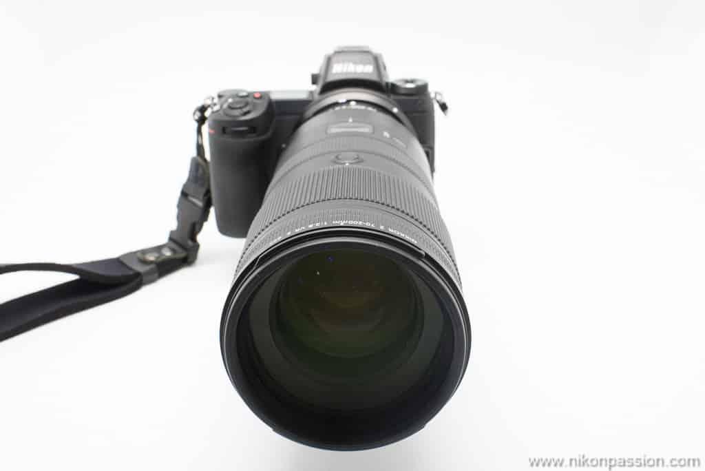 NIKKOR Z 70-200 mm f/2.8 VR S lentille frontale