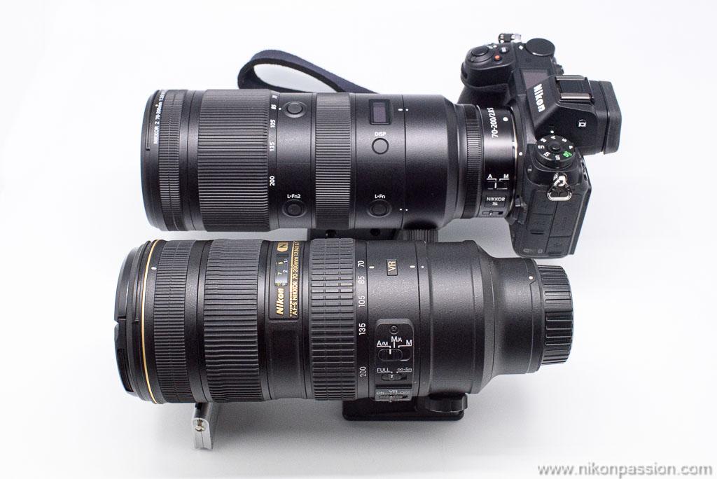 Comparaison NIKKOR Z 70-200 mm f/2.8 vs. AF-S Nikkor 70-200 mm f/2.8