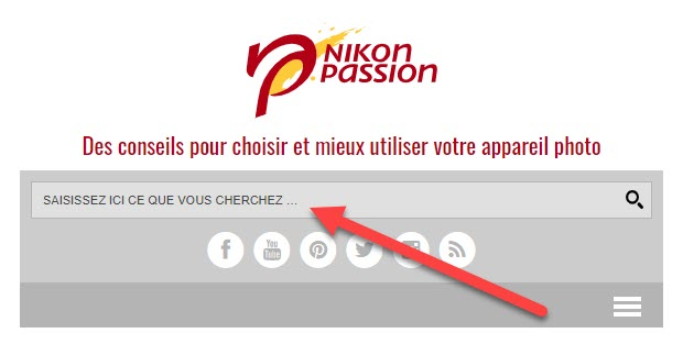 Comment utiliser la recherche sur le site Nikon Passion ?